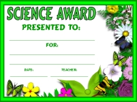 Science Plants Awards and Certificates
