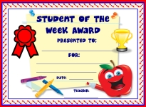 Student of the Week Awards and Certificates