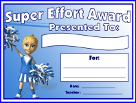 Super Effort Awards and Certificates