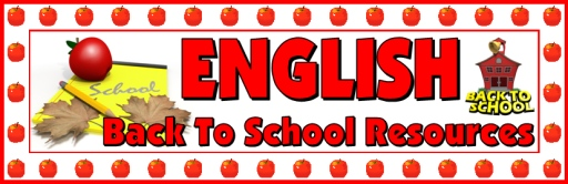 Back to School English Teaching Resources and Lesson Plans