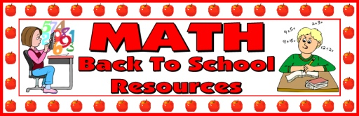 Back to School Math Teaching Resources and Lesson Plans