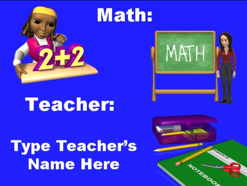 Back to School Powerpoint Classroom Subjects and Teachers