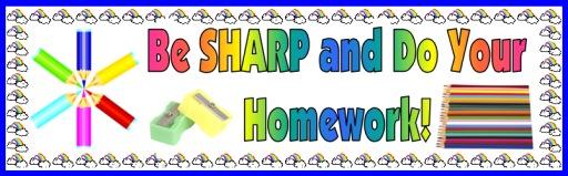 Free Homework Chart Banner