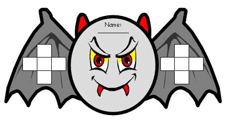 Fun Bat Halloween Sticker Chart Templates for Elementary School Students