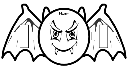 Bat Halloween Sticker Chart Templates for Elementary Teachers