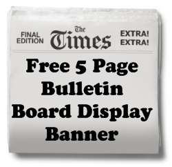 Biography Book Report Free Bulletin Board Display Banner