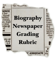 Nonfiction Biography Book Report Newspaper Grading Rubric