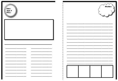 Biography book report newspaper templates printable for Free printable newspaper template for students