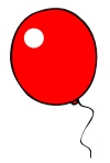 Red Birthday Balloon