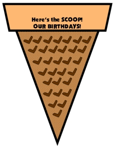 Birthday Ice Cream Cone