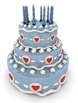 blue birthday cake graphic
