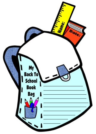 Blue Book Bag Creative Writing Templates for Back to School