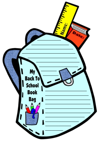 Back To School Teaching Resources Back Pack Writing Templates