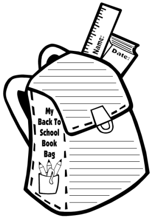 Book Bag Templates: Fun Back to School Printable Worksheets
