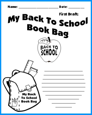 Back To School Printable Worksheets Colorful Creative Writing