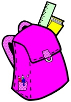 Back to School Student Book Bag Writing Templates Pink