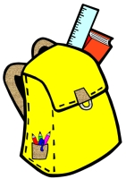 Back to School Student Book Bag Writing Templates Yellow