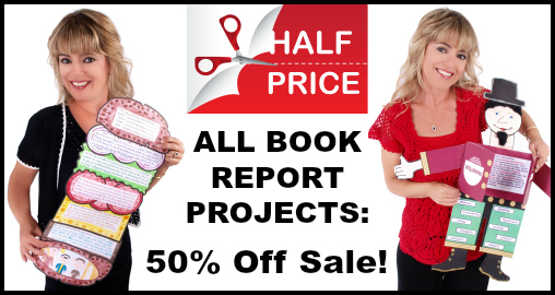 Book Report Projects 50 Percent Off Sale