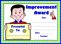 Boy Student Improvement Award