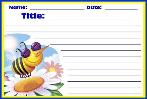 Worksheets Printable Worksheets spring printable worksheets colorful creative writing bee for themes