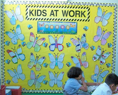 Butterfly Spring English Teaching Resources Bulletin Board Display Example