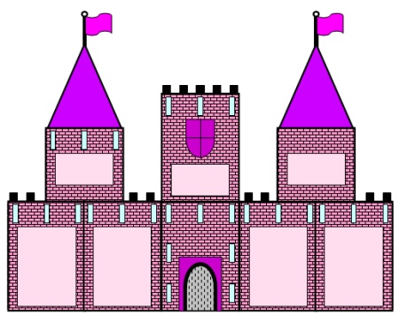 cut out castle template - extra large castle book report projects templates