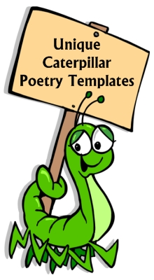 Fun Caterpillar Poetry Writing Templates and Worksheets