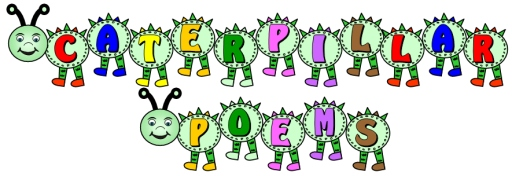 Caterpillar Shaped Poetry Writing Templates and Bulletin Board Display