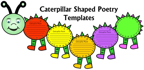 Fun Poetry Writing Templates and Printable Worksheets For Elementary School Students
