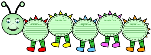 Large Caterpillar Writing Templates Caterpillar Shaped ...
