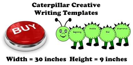 Caterpillar Shaped Creative Writing Templates, Graphic Organizers, and Fun Projects For Students