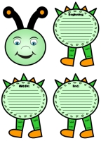 Caterpillar Shaped Story Writing Templates