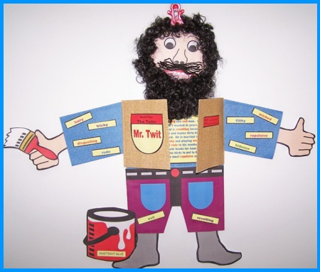 The Twits Mr Twit by Roald Dahl Main Character Book Report Project