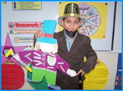 Charlie and the Chocolate Factory Willy Wonka Main Character Book Report Project