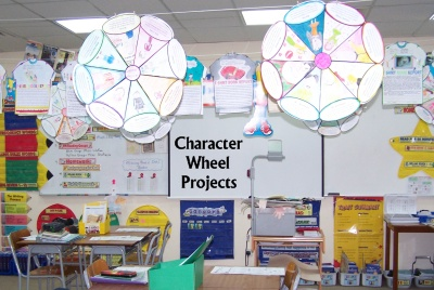 Character Wheel Projects Elementary Classroom Display