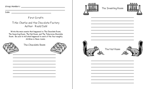 Charlie and the Chocolate Factory Printable Worksheets for Student Projects