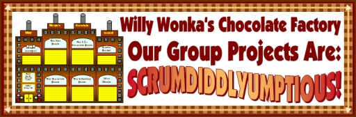 Charlie and the Chocolate Factory Roald Dahl Fun Group Project Ideas