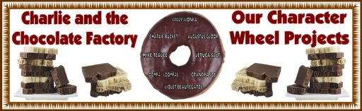 Character Wheel Charlie and the Chocolate Factory Group Project Banner