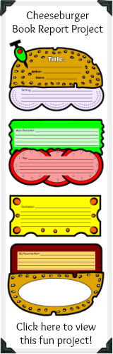 Click here to view this unique cheeseburger book report project.