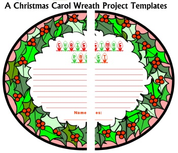 A Christmas Carol Student Book Report Projects Wreaths Charles Dickens