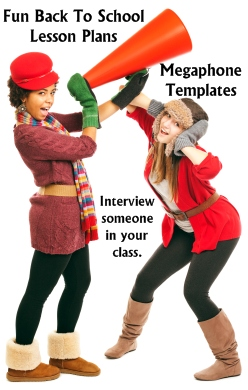 Fun Back to School Lesson Plans Interview a Classmate