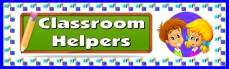Classroom Helpers Bulletin Board Display Banner