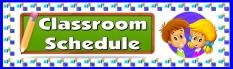 Classroom Scedule Bulletin Board Display Banner