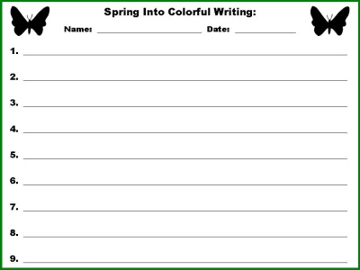 Colorful Writing Sentence Powerpoint