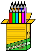 Color Pencil Box Creative Writing Templates and Worksheets