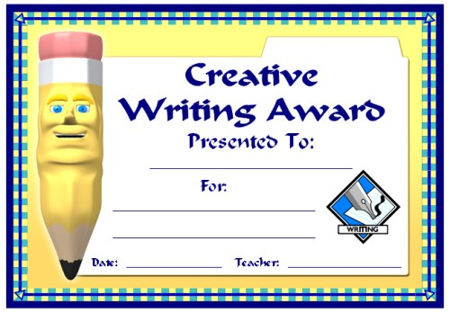 Creative Writing Award Certificate