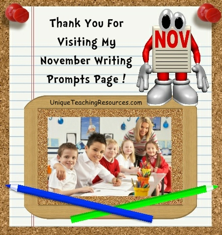 Creative Writing Prompts and Journal Ideas For November