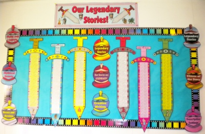 Creative Writing Sword Myths and Legends Bulletin Board Display