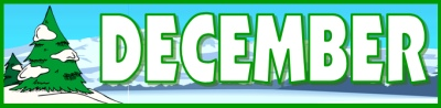 December Tree Calendar Banner