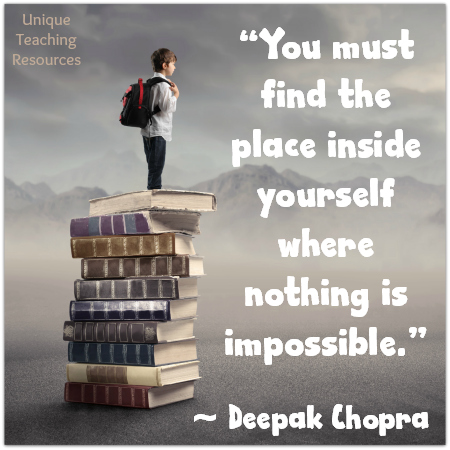 Deepak Chopra Nothing Is Impossible Inspirational Quote